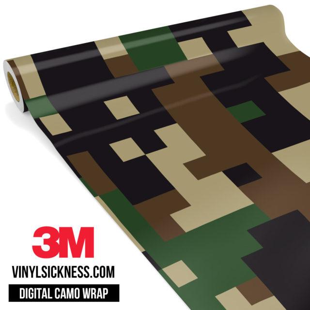 Jdm Digital Camo Military Vinyl Wrap Large