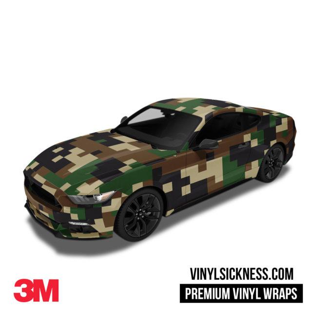 Jdm Digital Camo Military Vinyl Wrap Large Car