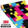 Jdm Digital Camo Neon Party Vinyl Wrap Large