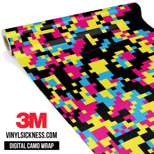 Jdm Digital Camo Neon Party Vinyl Wrap Regular