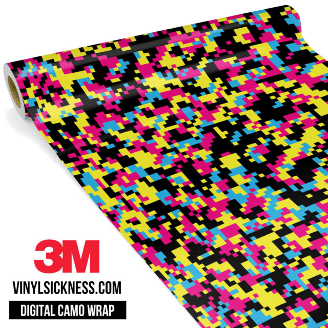 Jdm Digital Camo Neon Party Vinyl Wrap Small