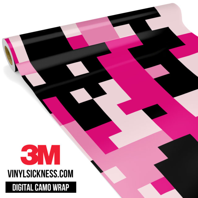 Jdm Digital Camo Pink Vinyl Wrap Large