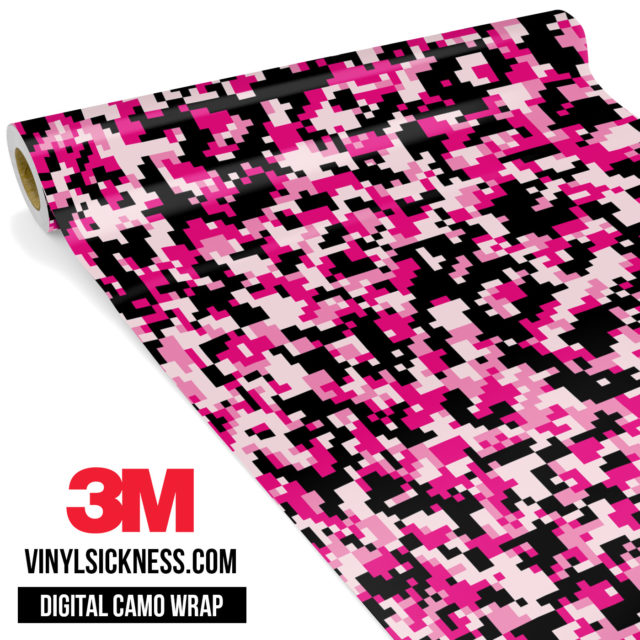 Jdm Digital Camo Pink Vinyl Wrap Small