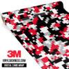 Jdm Digital Camo Red Black Vinyl Wrap Regular