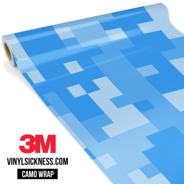 Jdm Premium Camo Azure Blue Digital Vinyl Wrap Large