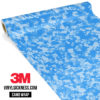 Jdm Premium Camo Azure Blue Digital Vinyl Wrap Small