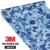 Jdm Premium Camo Blue Gray Digital Vinyl Wrap Regular