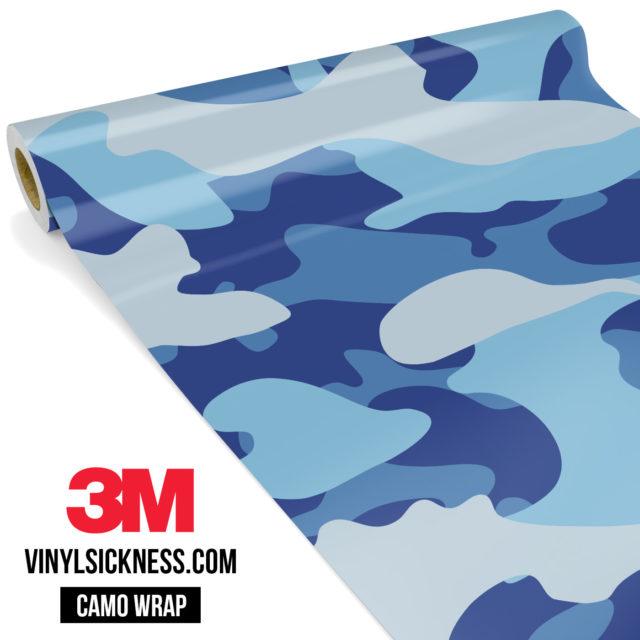 Jdm Premium Camo Blue Gray Vinyl Wrap Large