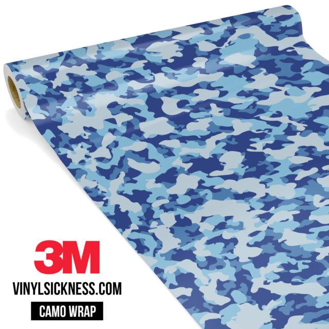 Jdm Premium Camo Blue Gray Vinyl Wrap Small