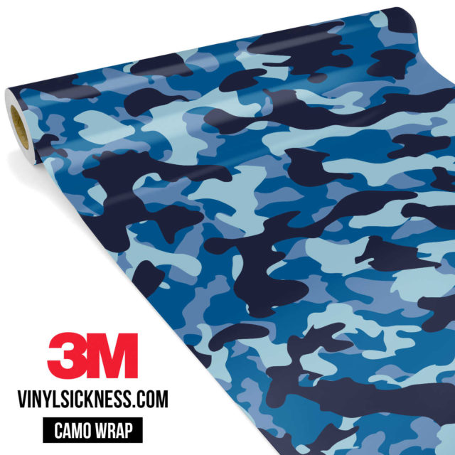 Jdm Premium Camo Blue Night Vinyl Wrap Regular