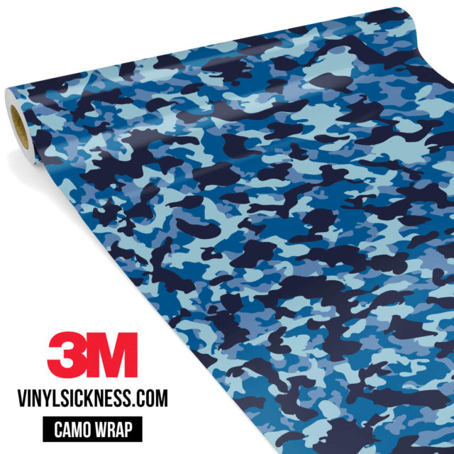 Jdm Premium Camo Blue Night Vinyl Wrap Small