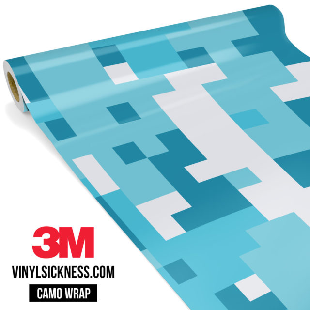 Jdm Premium Camo Bondi Blue Digital Vinyl Wrap Large