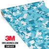Jdm Premium Camo Bondi Blue Digital Vinyl Wrap Regular