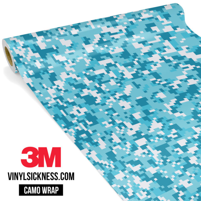 Jdm Premium Camo Bondi Blue Digital Vinyl Wrap Small