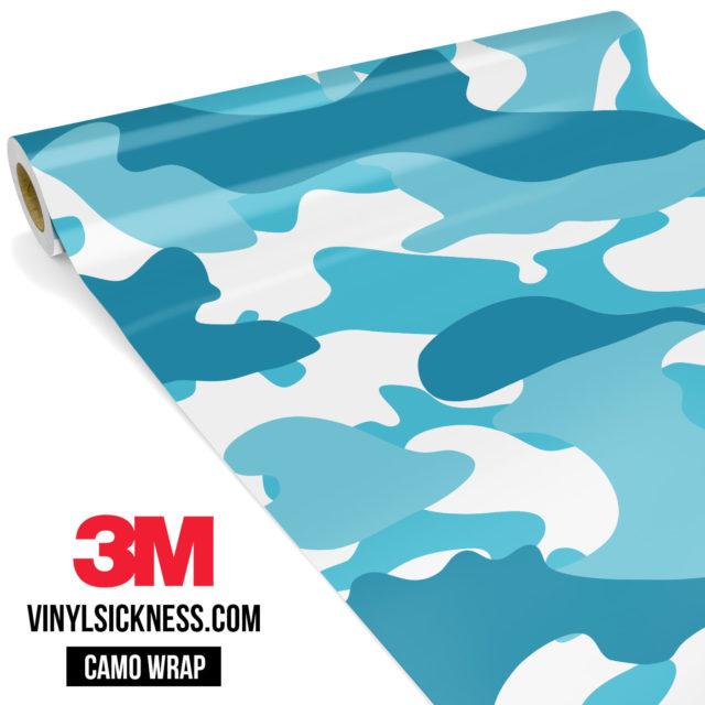 Jdm Premium Camo Bondi Blue Vinyl Wrap Large