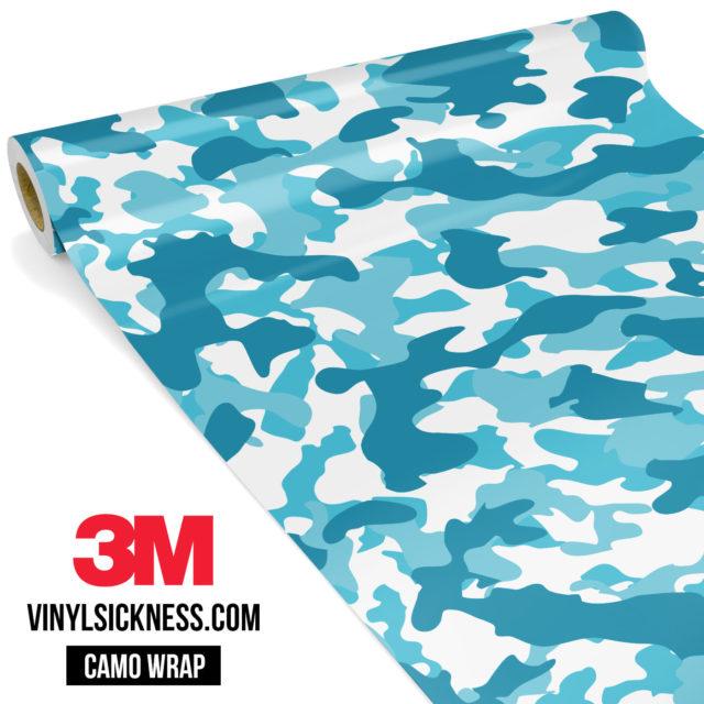 Jdm Premium Camo Bondi Blue Vinyl Wrap Regular