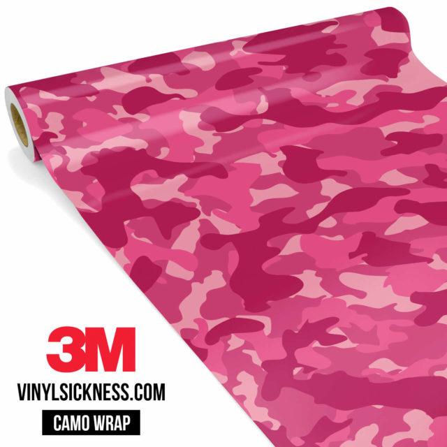 Jdm Premium Camo Candy Pink Vinyl Wrap Regular