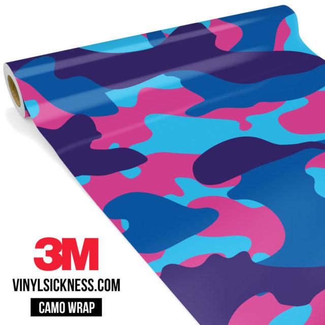 Jdm Premium Camo Candy Pop Vinyl Wrap Large