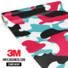 Jdm Premium Camo Cotton Candy Vinyl Wrap Large
