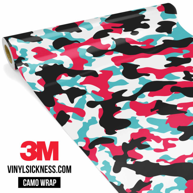Jdm Premium Camo Cotton Candy Vinyl Wrap Regular