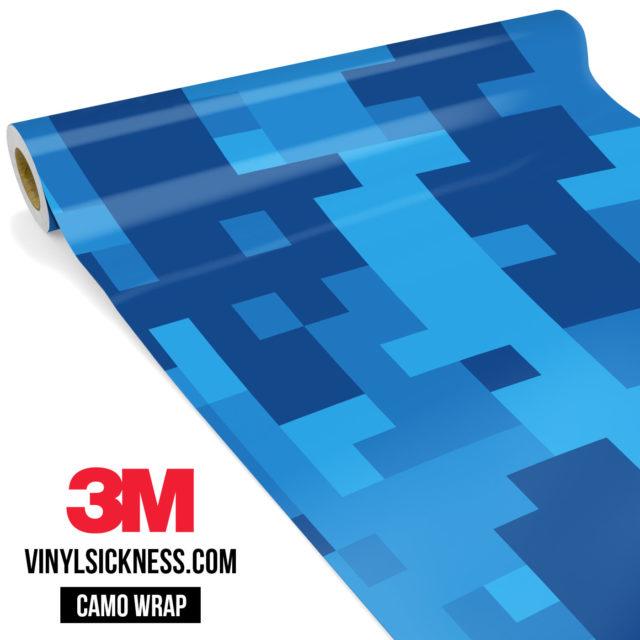 Jdm Premium Camo Dark Intense Blue Digital Vinyl Wrap Large