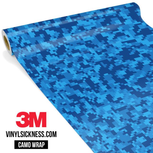 Jdm Premium Camo Dark Intense Blue Digital Vinyl Wrap Small