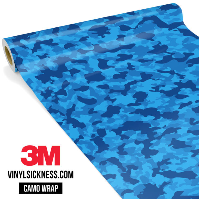 Jdm Premium Camo Dark Intense Blue Vinyl Wrap Small