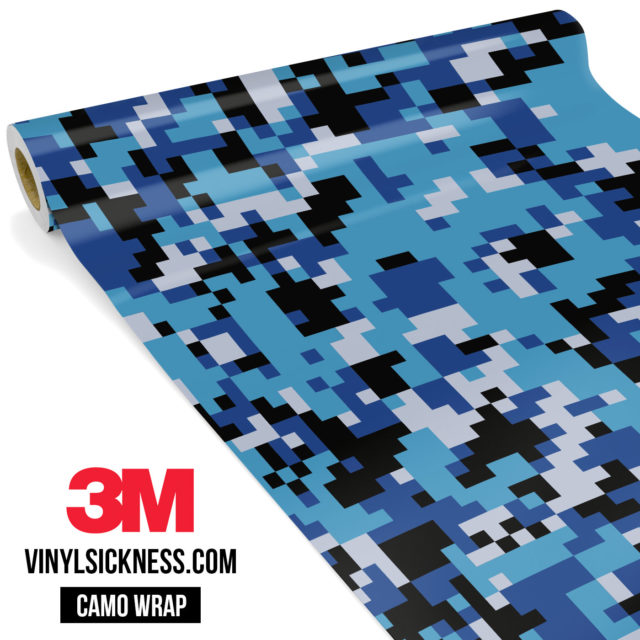 Jdm Premium Camo Deep Sea Blue Digital Vinyl Wrap Regular