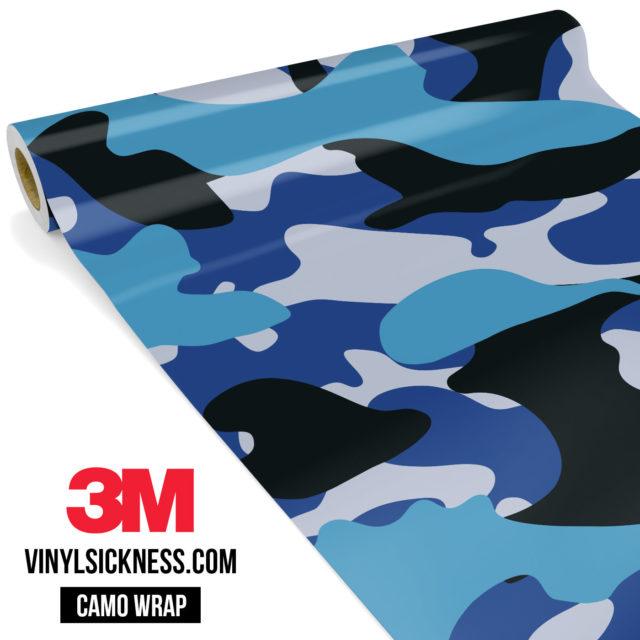 Jdm Premium Camo Deep Sea Blue Vinyl Wrap Large