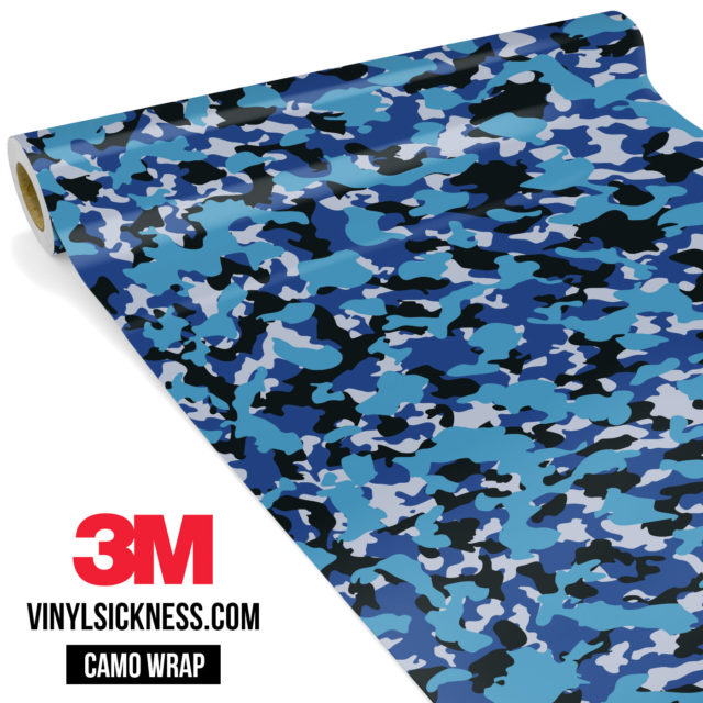 Jdm Premium Camo Deep Sea Blue Vinyl Wrap Small