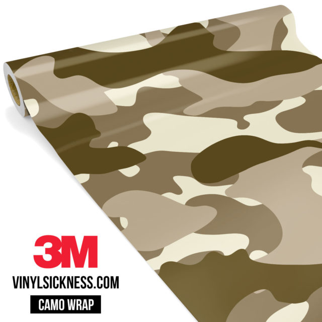 Jdm Premium Camo Desert Vinyl Wrap Large