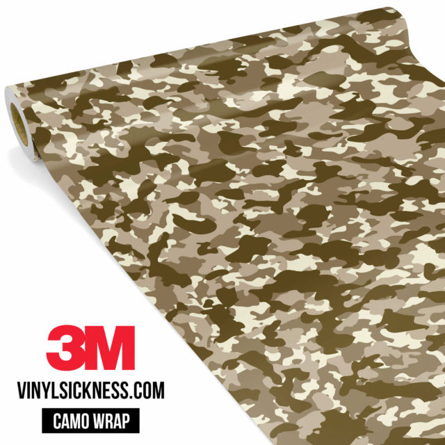 Jdm Premium Camo Desert Vinyl Wrap Small
