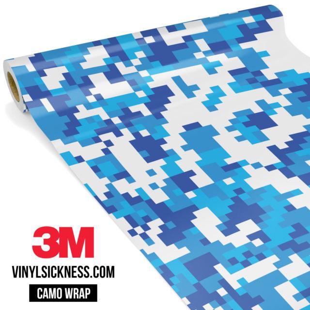 Jdm Premium Camo Hyper Blue Digital Vinyl Wrap Regular