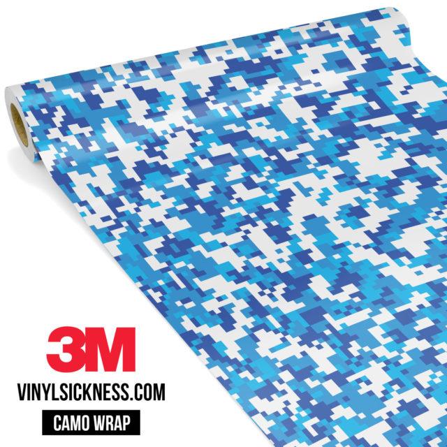 Jdm Premium Camo Hyper Blue Digital Vinyl Wrap Small