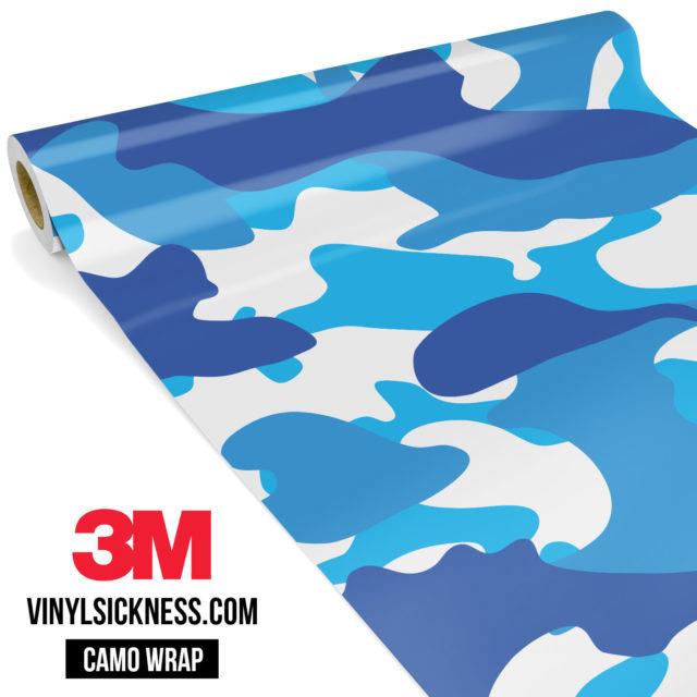 Jdm Premium Camo Hyper Blue Vinyl Wrap Large