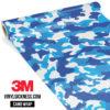 Jdm Premium Camo Hyper Blue Vinyl Wrap Regular