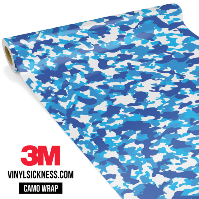 Jdm Premium Camo Hyper Blue Vinyl Wrap Small