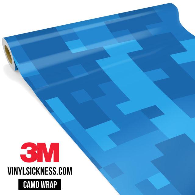 Jdm Premium Camo Intense Blue Digital Vinyl Wrap Large