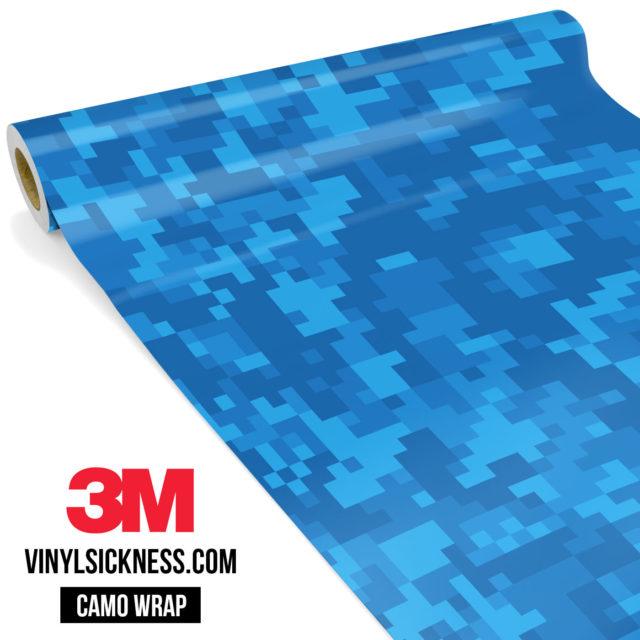 Jdm Premium Camo Intense Blue Digital Vinyl Wrap Regular