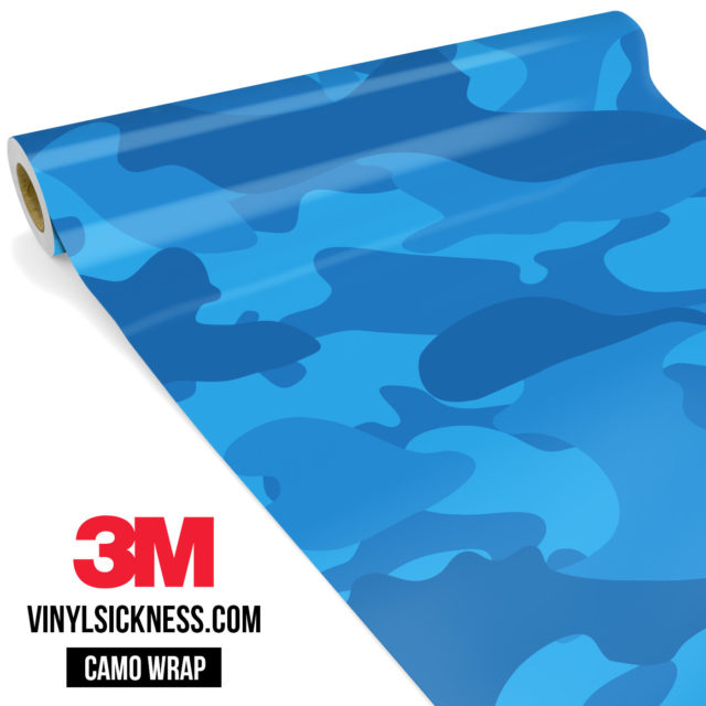 Jdm Premium Camo Intense Blue Vinyl Wrap Large