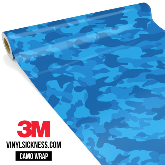 Jdm Premium Camo Intense Blue Vinyl Wrap Regular