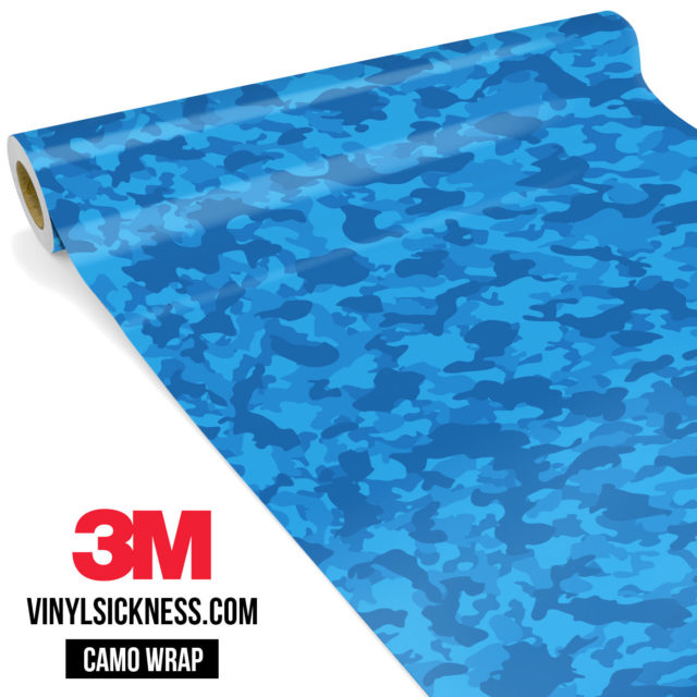 Jdm Premium Camo Intense Blue Vinyl Wrap Small