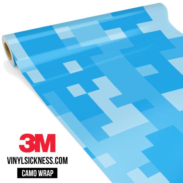 Jdm Premium Camo Intense Light Blue Digital Vinyl Wrap Large