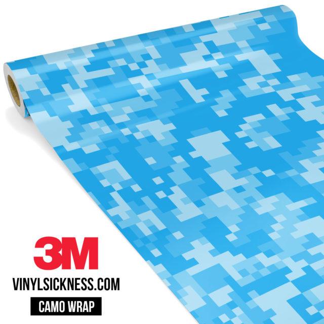 Jdm Premium Camo Intense Light Blue Digital Vinyl Wrap Regular