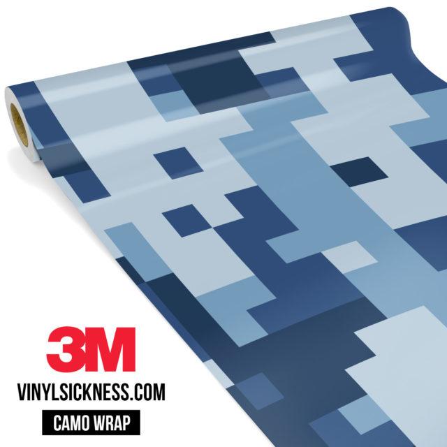 Jdm Premium Camo Intense Persian Blue Digital Vinyl Wrap Large