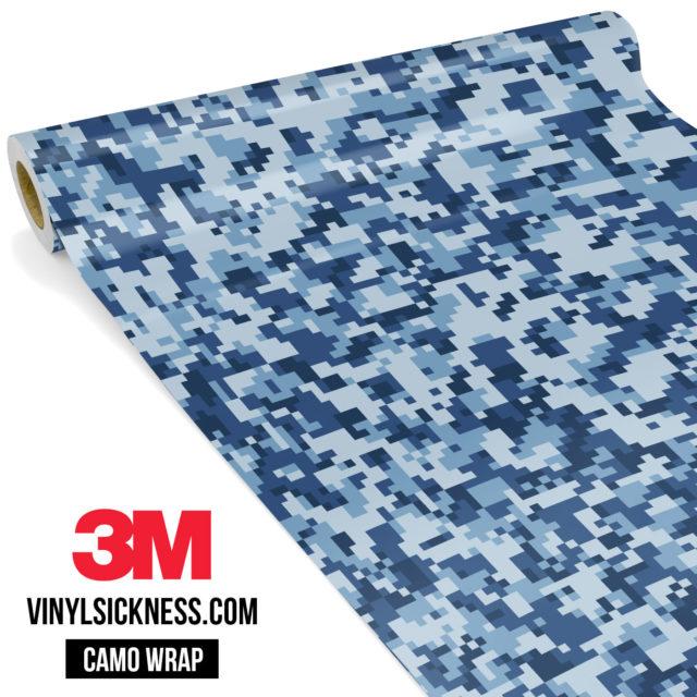 Jdm Premium Camo Intense Persian Blue Digital Vinyl Wrap Small