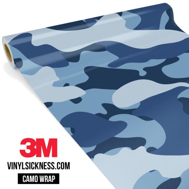Jdm Premium Camo Intense Persian Blue Vinyl Wrap Large