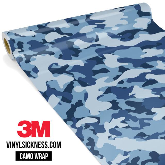 Jdm Premium Camo Intense Persian Blue Vinyl Wrap Regular