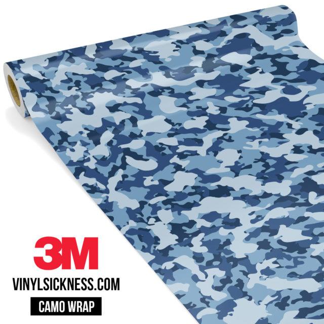 Jdm Premium Camo Intense Persian Blue Vinyl Wrap Small