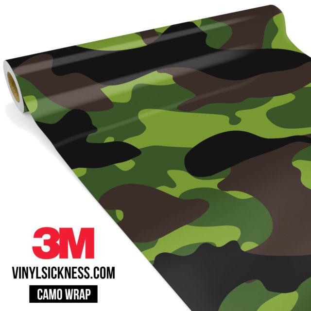 Jdm Premium Camo Jungle Vinyl Wrap Large